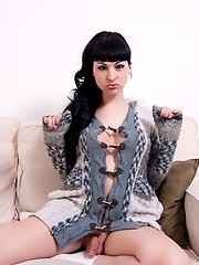 Brunette hottie Bailey Jay posing her juicy dick