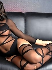 Stunning tgirl Nody Nadia stripping and posing
