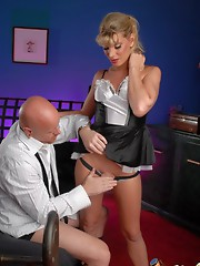 Super Hot French Maid Angelina Torres pleasing her Master Tom