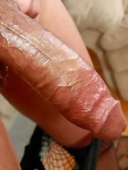 Sexy T-Girl babe strips