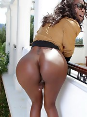 Chocolate hotness Natassia posing