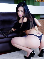 Maria is a sexy girl with a hot smooth body, bug boobs and a thick hard cock!