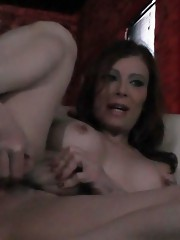 Filthy Jasmine strokes and pees