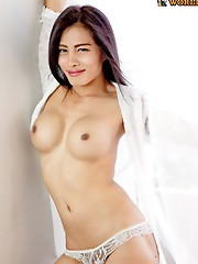 Nina is an authentic student, she's the typical young ladyboy next door.  She's got a cute Issan face, long black hair, nice boobs. Her cock