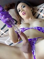 Purple Lingerie Bareback