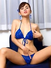 Ladyboy pussy in bikini