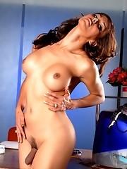 Tgirl Pornstar Vanity Being A Naughty Secretary