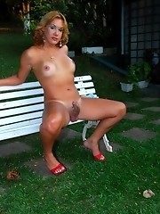 Shemale Pornstar Alexia Freire Posing Outdoors